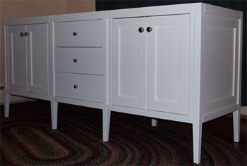 White Shaker Style Bathroom Vanity Shaker Style Double Sink Vanity With Four Doors And Three