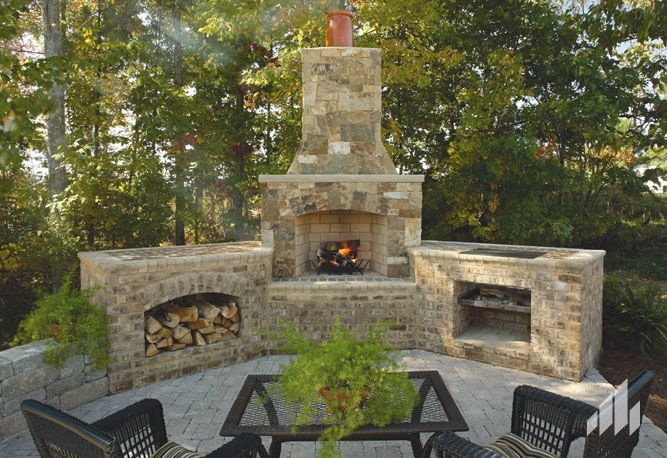 Outdoor Fireplace And Grill Ideas, Outdoor Brick Fireplace Grill Designs