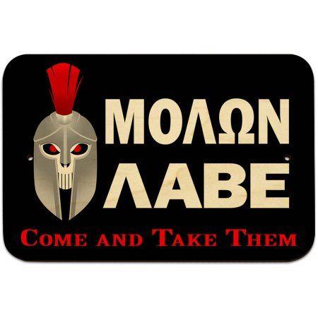 Molon Labe - Come and Take Them Spartan Skull Sign