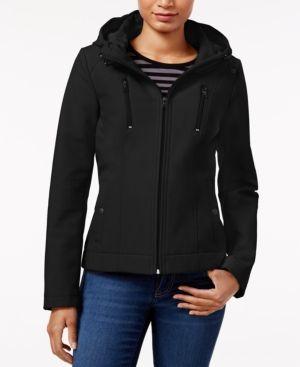 Sebby Hooded Raincoat - Black XS