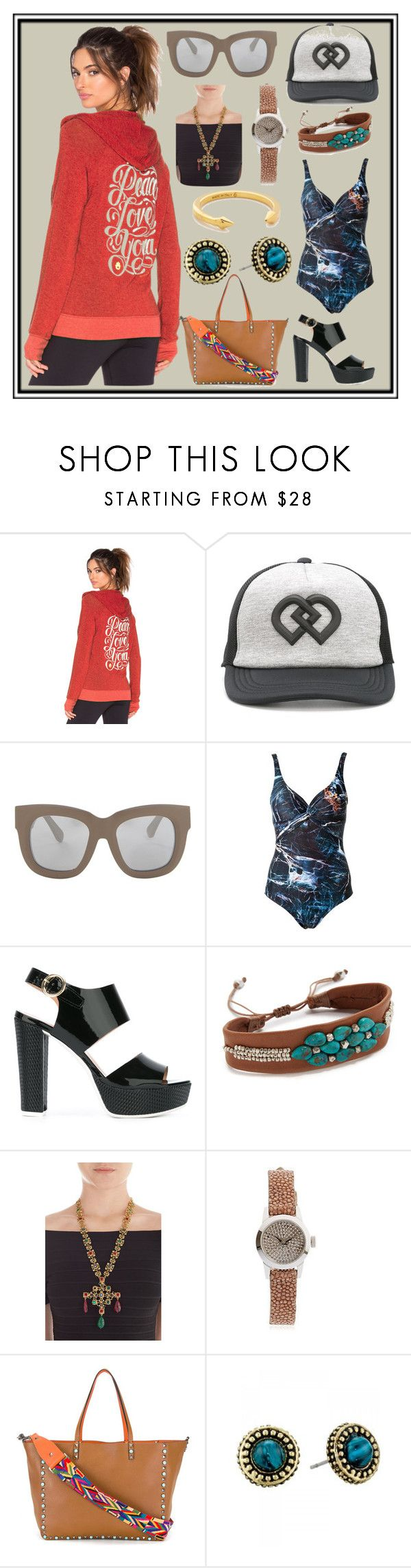 """""""See It Wear It"""" by cate-jennifer ❤ liked on Polyvore featuring Spiritual Gangster, Dsquared2, Acne Studios, Lygia & Nanny, Pollini, Chan Luu, Kenneth Jay Lane, Christian Koban, Valentino and House of Harlow 1960"""