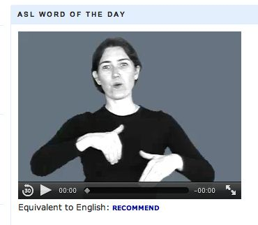 www.handspeak.com is a sign language website that can come in handy when you are called to work with a non-verbal student who communicates through sign language. It includes useful features such as an ASL video dictionary where you can search a word and watch how to sign it in ASL, first 100 basic signs, a Back-to-School ASL vocabulary list and ASL tutorials for beginners. It even has a kids' ASL video dictionary with children demonstrating the signs. Available to all for free.