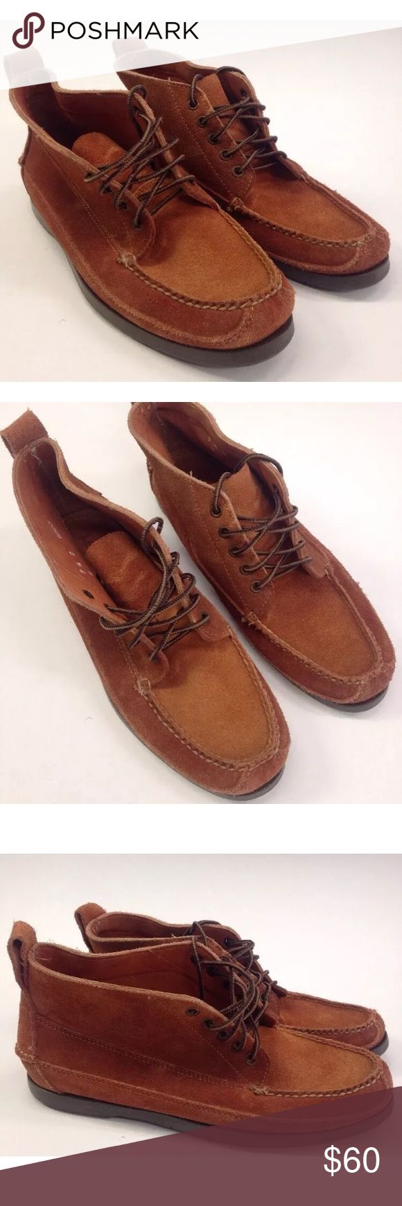 L.L BEAN SUEDE CHUKKA BOOTS NICE PAIR OF L.L BEAN CHUKKA BOOTS  MEN SIZE 9.5  BROWN SUEDE LACE UP LIGHTLY WORN. NICE & CLEAN  SEE PICTURES FOR CONDITION L.L. Bean Shoes Chukka Boots