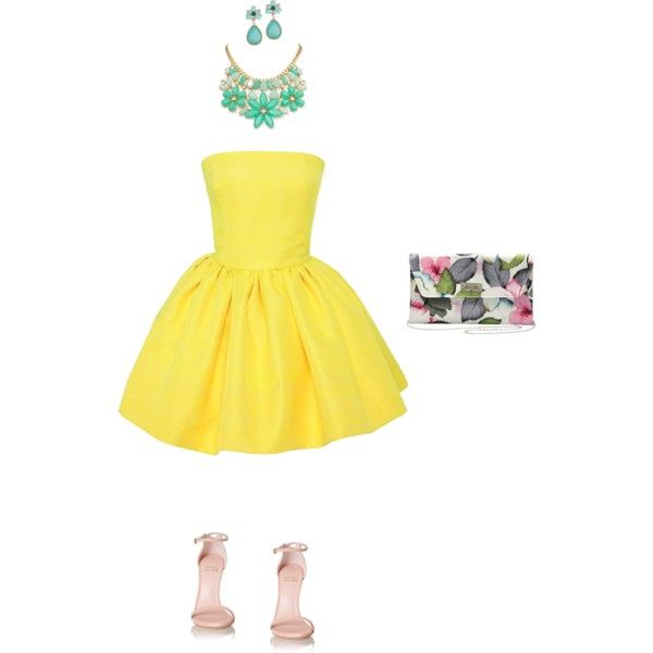 spring by tsurumi-mai on Polyvore featuring ファッション, Martin Grant, Stuart Weitzman, M&Co and Kate Spade