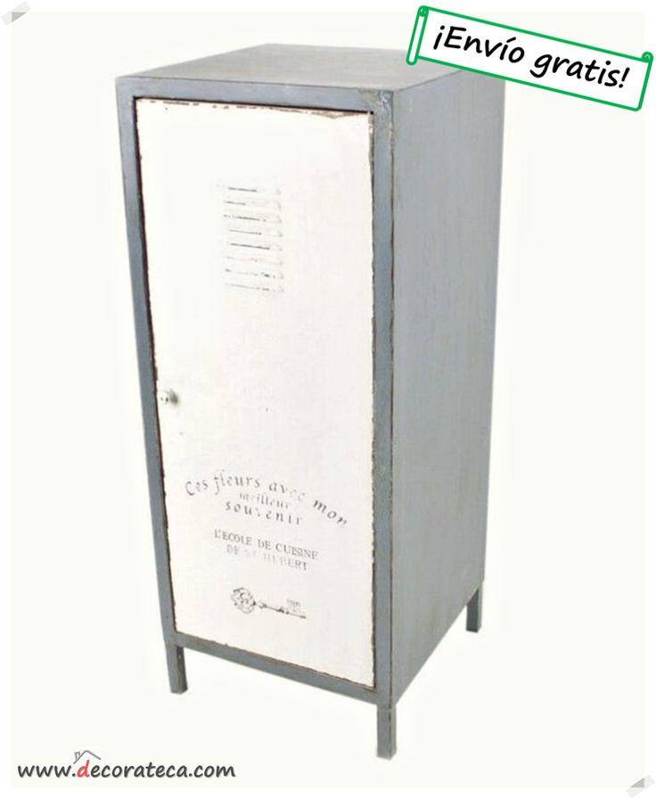 "Armario taquilla de metal ""1875 Loft"" / Decoraciones nórdica e industrial - DECORATECA.COM"