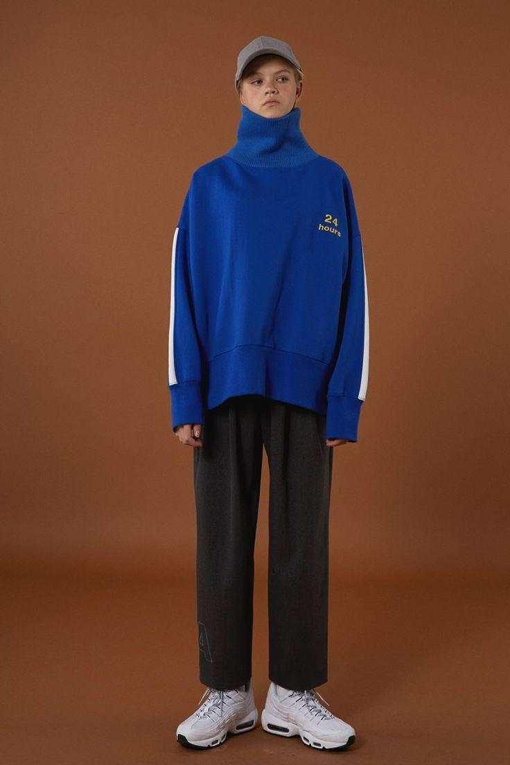 FW15 collection Turtleneck sweatshirt #ader#adererror#blue