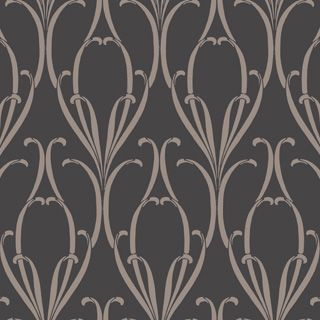 Charlie Wilson PARIS The archive inspired wallpaper design Paris has slender curling leaves closely touching to form an Art Nouveau style pattern in gold on cocoa; dark cream on grey or gunmetal on amethyst; white on plaster; dry white on olive green or silver on charcoal. Colours shown on-screen may vary from the original wallpaper, we therefore recommend ordering a sample to view the true colours. We recommend that you use Cole & Son Tub Paste.