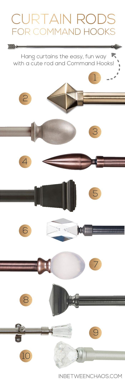 Curtain Rod Picks For Command Hooks | Inbetweenchaos.com