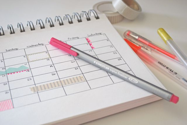 DIY planner with washi tape