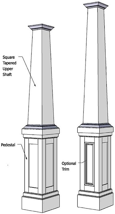 Wainscoting | BeadBoard | Columns | Mouldings – Elite Trimworks HOW TO INSTALL TAPERED COLUMNS