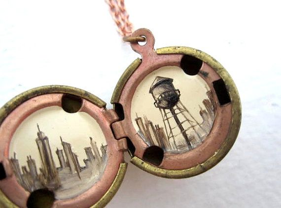 Love all this person's work! Brooklyn locket.