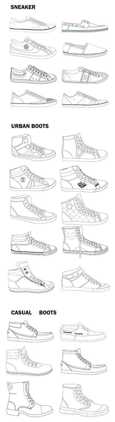 """Elena Guillem diseñadora de complementos y calzado: Bocetos calzado de hombre para """"Springfield"""""""