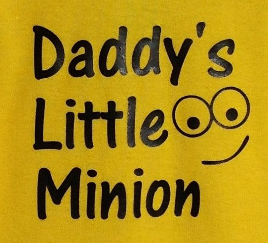 Daddy's Little Minion onesie / creeper by QuiteLikeHome on Etsy, $15.50