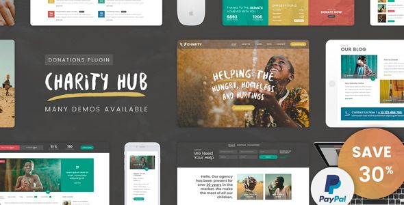 Download ThemeForest  Charity Foundation v1.1  Charity Hub WP Theme Free