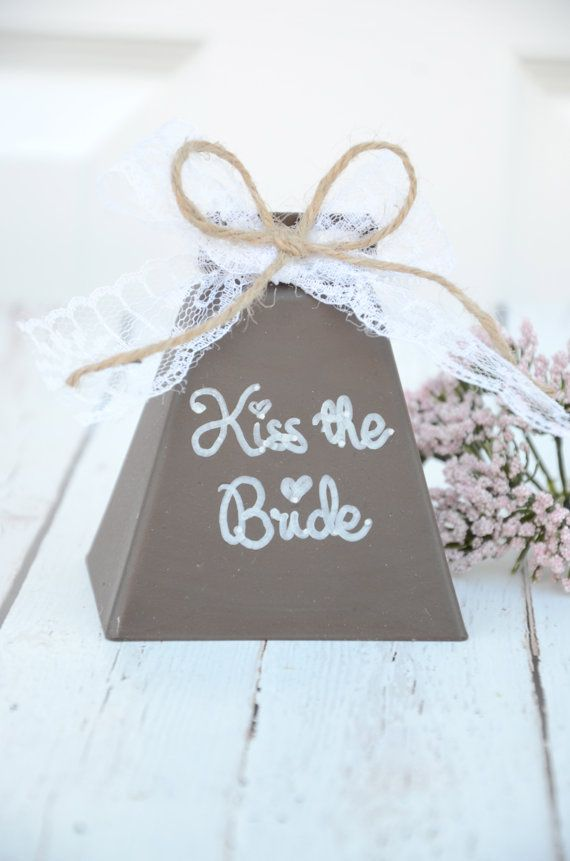 Wedding kissing bell- kiss the bride- rustic wedding decorations Spring 2014 on Etsy, $18.50