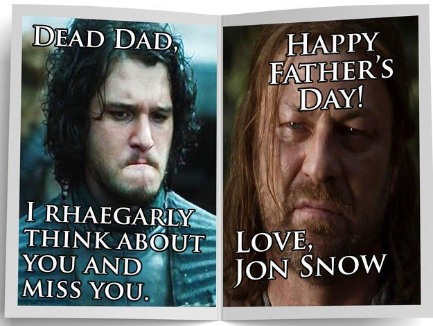 H/t to Buzzfeed for these very appropriate Game of Thrones themed Fathers Day cards. Apologies to non-GOT fans. Filed under: Film, USA, Writing Tagged: A Song Of Ice And Fire, Game of Thrones, HBO, Shireen