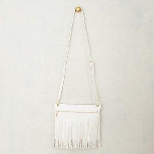 Zip Front Fringe Cross Body Bag