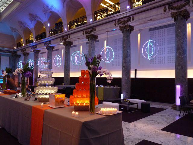 Décoration de buffet pour une soirée d'entreprise à Paris