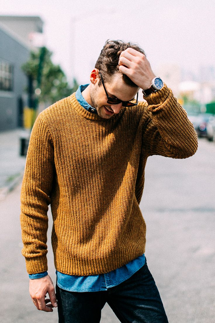 Don't sweat layering this fall with  Brixton's Sawyer sweater.
