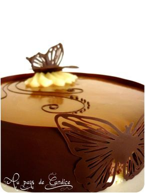 Bavarois poire chocolat caramel
