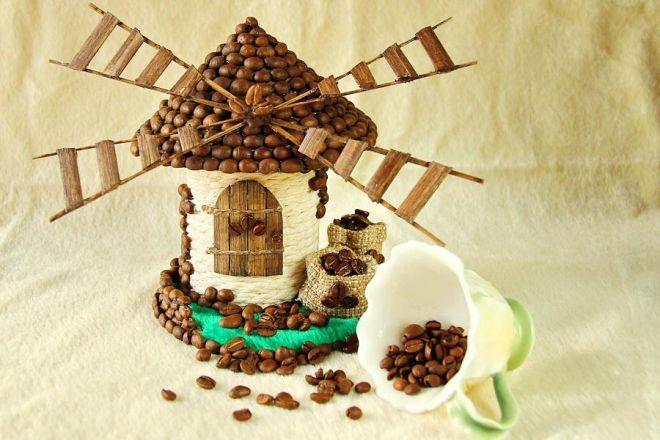 Как сделать декоративную коробочку в виде кофейной мельницы своими руками