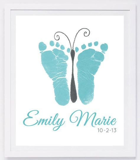 Baby Footprint Art Forever Prints hand and von MyForeverPrints