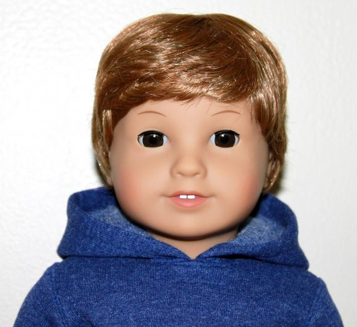 American girl doll made over into an American BOY doll!  Pretty cool!