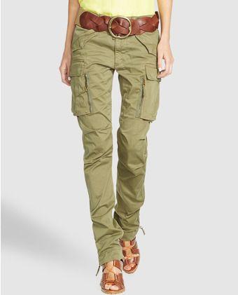 Pantalón cargo de mujer Polo Ralph Lauren en color kaki