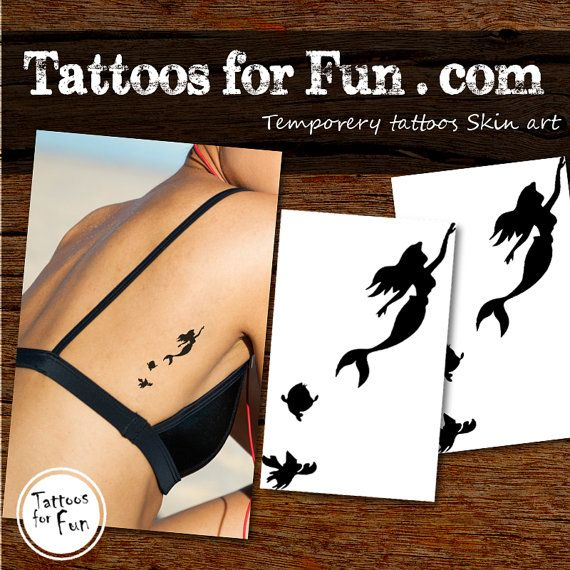 Little+Mermaid+Temporary+Tattoo+Choose+Your+Pack++by+TattoosForFun