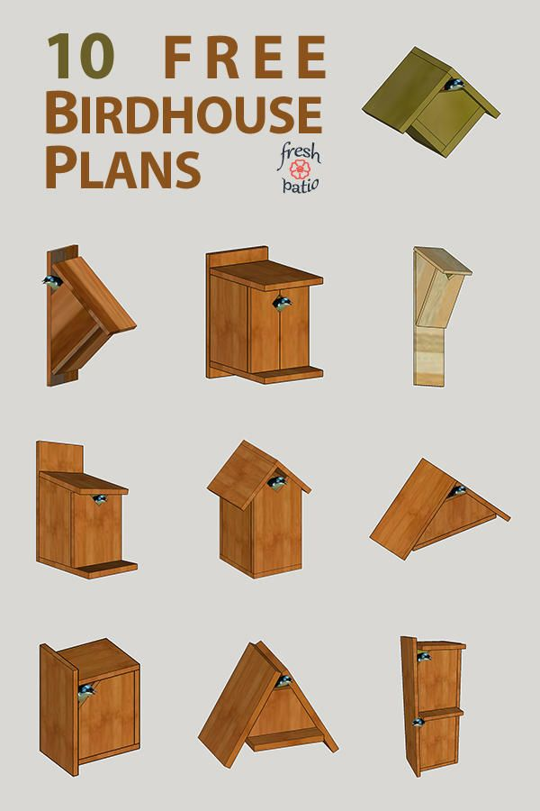 10 Free Birdhouse Plans Built For 3 Simple No Drilling