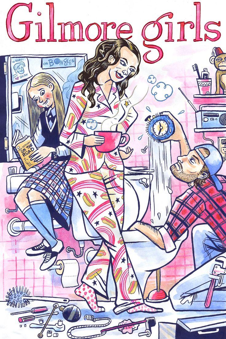 Gilmore Girls illustration by Dan Zettwoch.