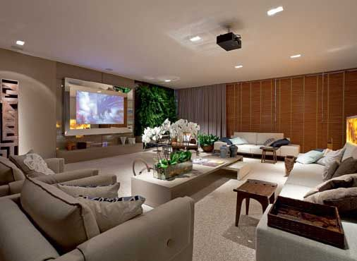 Decoração da Sala de TV Pequena, Simples, Grande, Fotos