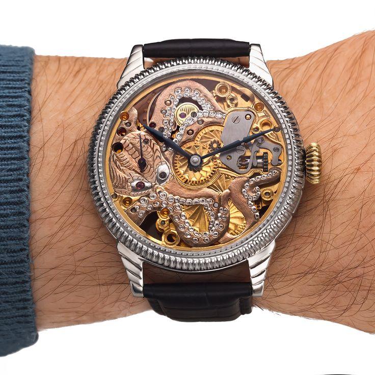 #omega #pocketwatch #mechanism #art #handmade #wristwatch #watches #skeleton #octopus #design #style #collection #watchmaking