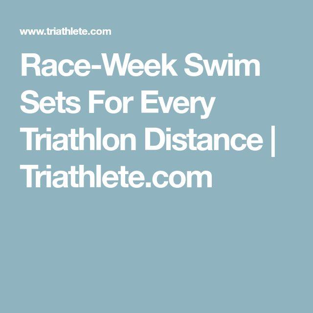 Race-Week Swim Sets For Every Triathlon Distance   Triathlete.com