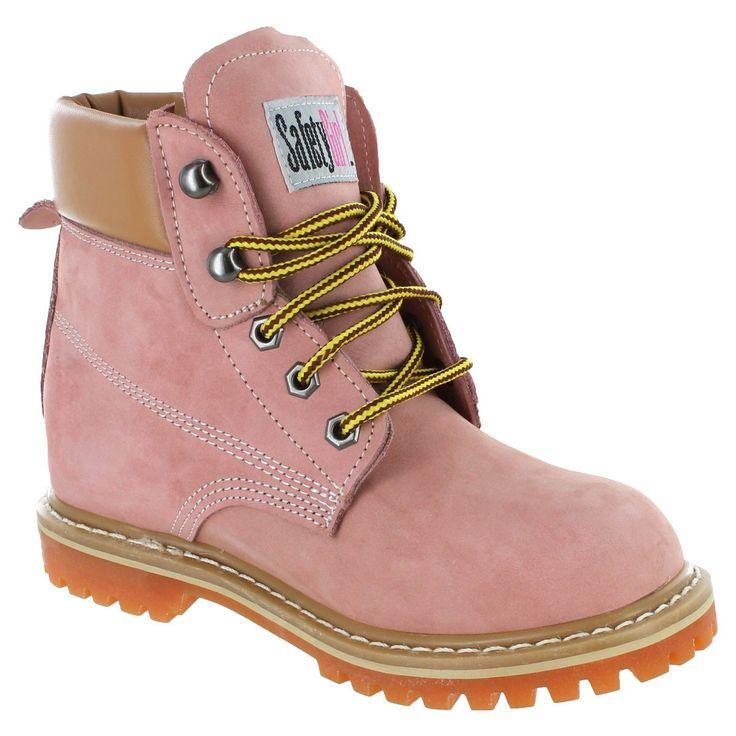 Safety Girl II Soft Toe Waterproof Women's Work Boots - Light Pink