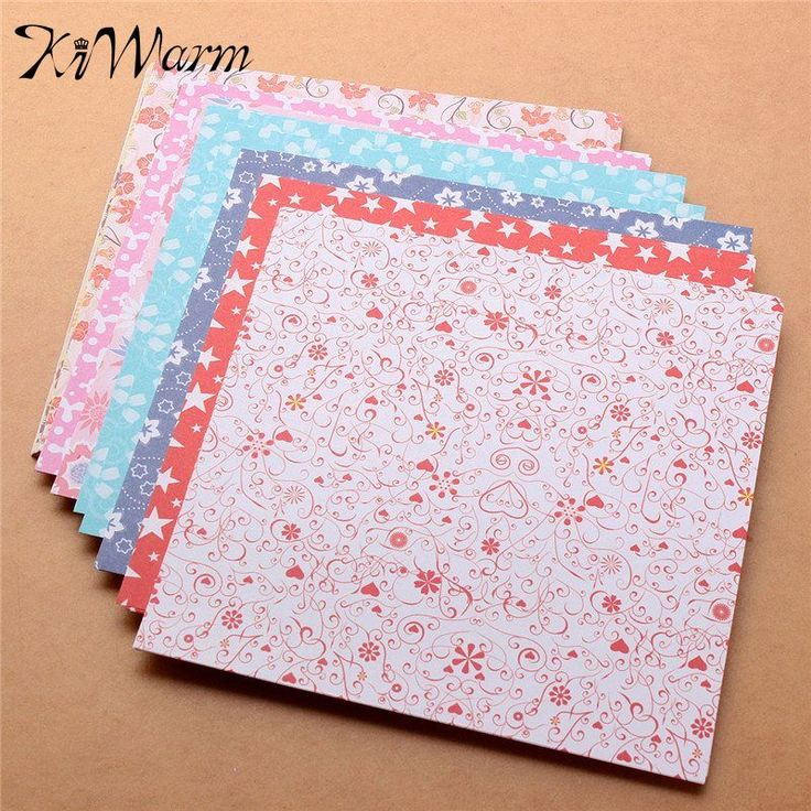 72 Sheets 15X15cm Mix Color Square Origami Folding Paper Flower Patterned Papers 12 Kinds of Patterns Paper Craft DIY Kid Gift