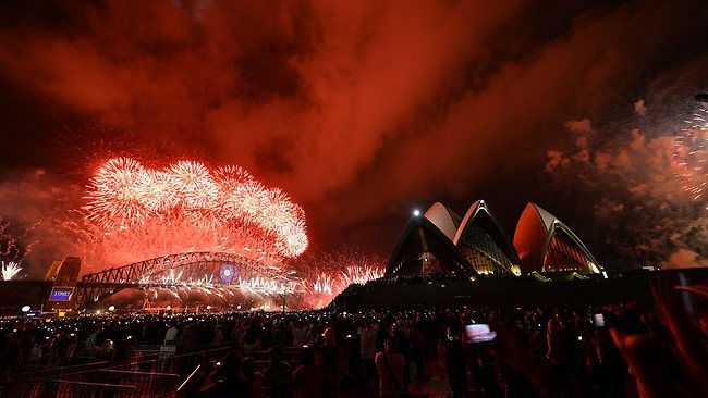 Happy New Year from the Sydney Harbour.