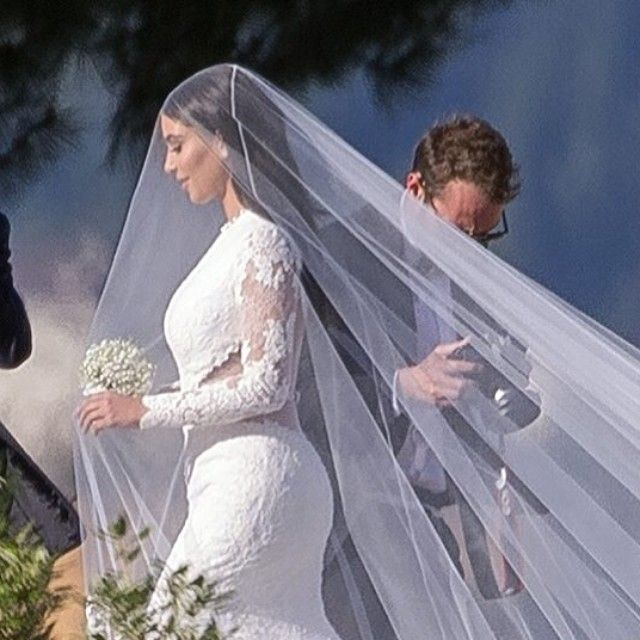 kim kardashian veil | Wedding Day Belles: Poppy Delevingne and Kim Kardashian