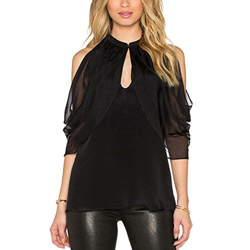 Special Offer: $9.98 amazon.com Material: HQ Chiffon.Off Shoulder Design, Sexy and cool.S-XL, Black.Note: Please choose the size according the size chart in picture or leave message to us, our size maybe smaller than American size, if you can't make sure of 2 sizes, please choose the...