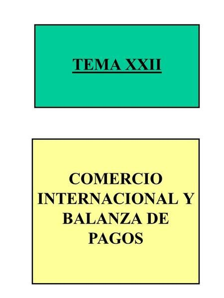 COMERCIO INTERNACIONAL Y BALANZA DE PAGOS>