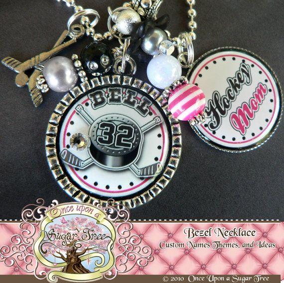 Custom Sports Jewelry HOCKEY MOM by onceuponasugartree on Etsy, $23.00