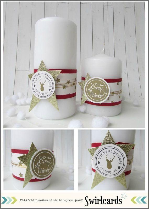 AVENT N°10: Des bougies pour Noël par Fati. Collection ORchidée de Swirlcards