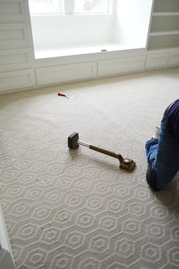 Carpet with a pattern would be an awesome update if you end up needing to replace carpet!