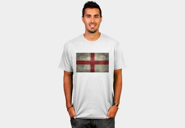 Flag of England (St. George's Cross) Vintage retro style T-Shirt - Design By Humans #UKflag #uk #britishflag #unionjack