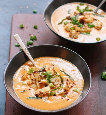Soupe au chou-fleur et au curry