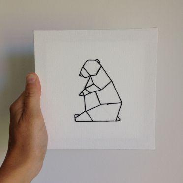 Tuto r aliser un tableau brod origami par caro d co chambre origami broderie et origami - Realiser un tableau ...