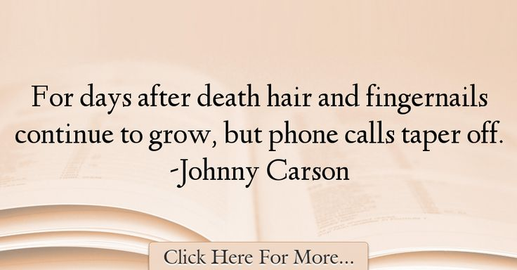 Johnny Carson Quotes About Death - 13929