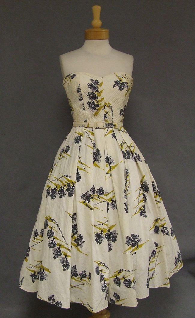 1950.s Strapless Sundress