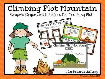 """Add some pizzazz to plot lines with """"Climbing Plot Mountain: Graphic Organizers and Posters for Teaching Plot"""" ($)"""