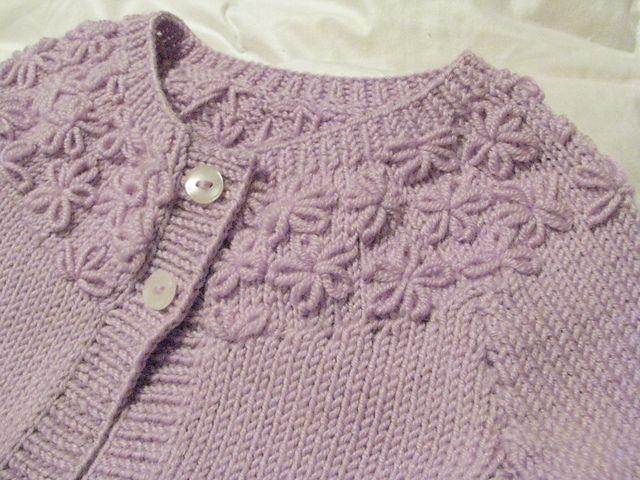 Ravelry: Little Posy Yoke Cardie pattern by Sublime Yarns